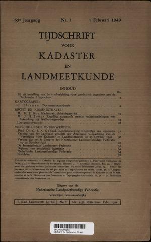 Tijdschrift voor Kadaster en Landmeetkunde (KenL) 1949
