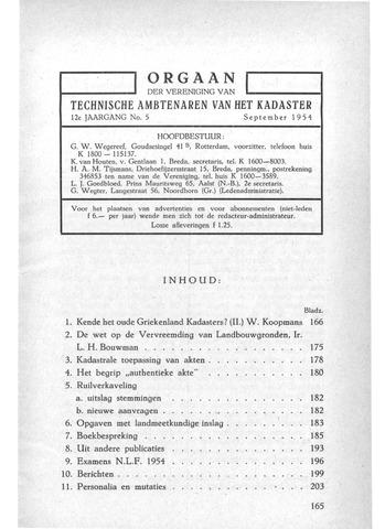 Orgaan der Vereeniging TAK 1954-09-01