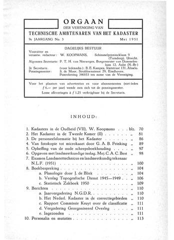 Orgaan der Vereeniging TAK 1951-05-01