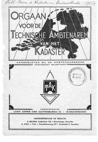 Orgaan der Vereeniging TAK 1941-08-01