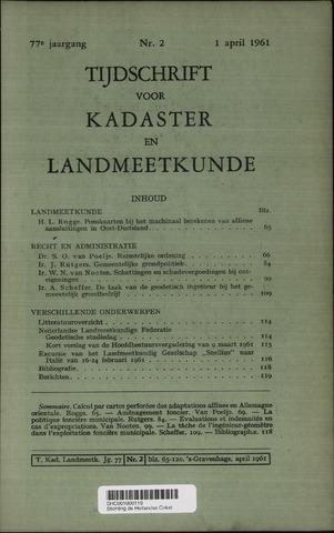 Tijdschrift voor Kadaster en Landmeetkunde (KenL) 1961-04-01