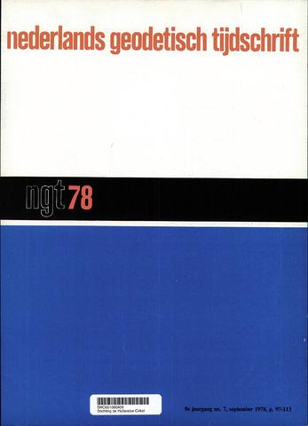 Nederlands Geodetisch Tijdschrift (NGT) 1978-09-01