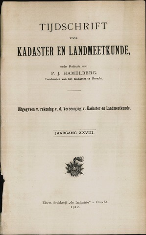 Tijdschrift voor Kadaster en Landmeetkunde (KenL) 1912