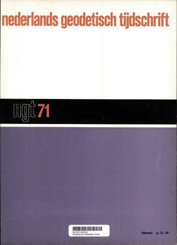 Nederlands Geodetisch Tijdschrift (NGT) 1971-02-01