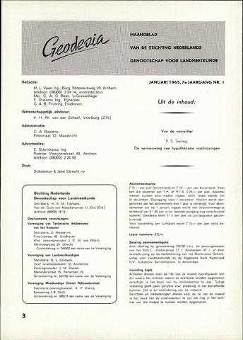 (NGT) Geodesia 1965-01-01