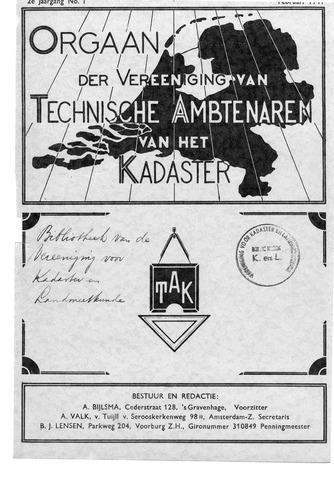 Orgaan der Vereeniging TAK 1941