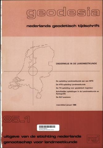 (NGT) Geodesia 1985-01-01