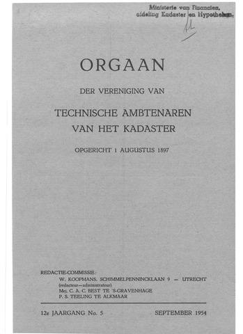 Orgaan der Vereeniging TAK 1954
