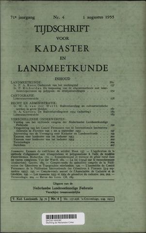 Tijdschrift voor Kadaster en Landmeetkunde (KenL) 1955-08-01