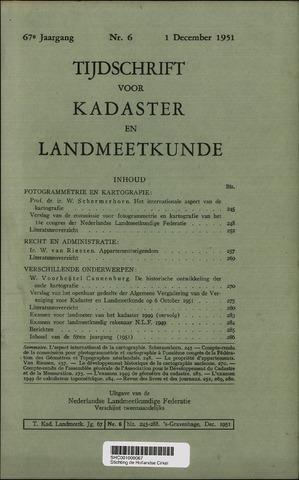 Tijdschrift voor Kadaster en Landmeetkunde (KenL) 1951-12-01