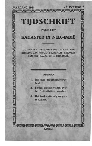 Tijdschrift voor het Kadaster in Ned.-Indië 1934-04-01