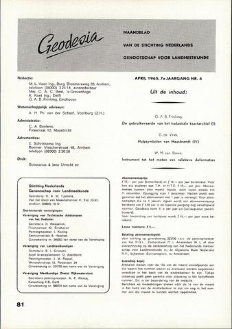 (NGT) Geodesia 1965-04-01