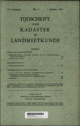 Tijdschrift voor Kadaster en Landmeetkunde (KenL) 1957-10-01