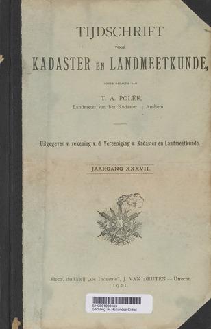 Tijdschrift voor Kadaster en Landmeetkunde (KenL) 1921