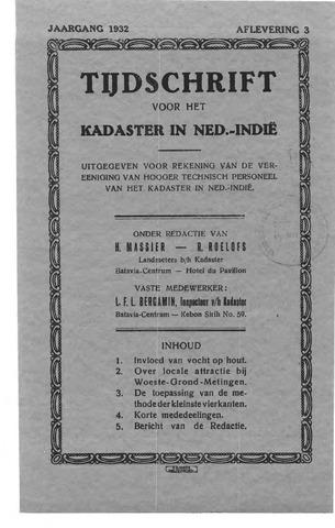 Tijdschrift voor het Kadaster in Ned.-Indië 1932-07-01
