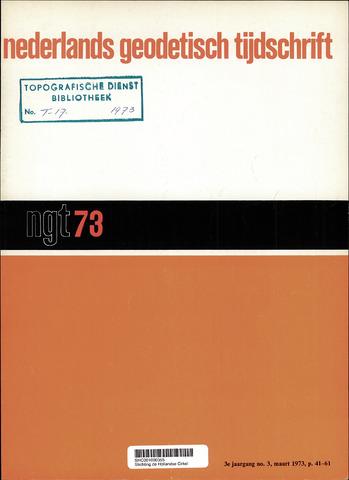 Nederlands Geodetisch Tijdschrift (NGT) 1973-03-01