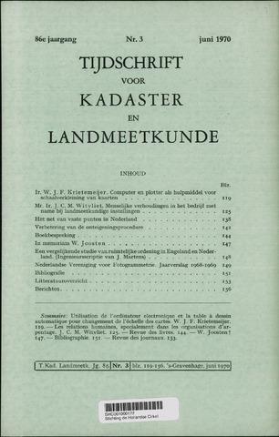 Tijdschrift voor Kadaster en Landmeetkunde (KenL) 1970-06-01