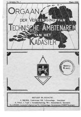 Orgaan der Vereeniging TAK 1940