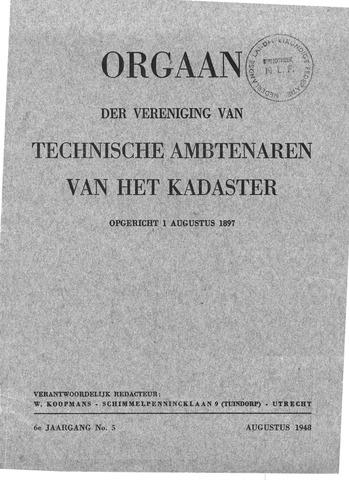 Orgaan der Vereeniging TAK 1948-08-01