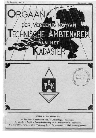 Orgaan der Vereeniging TAK 1940-12-01