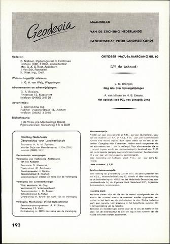 (NGT) Geodesia 1967-10-01