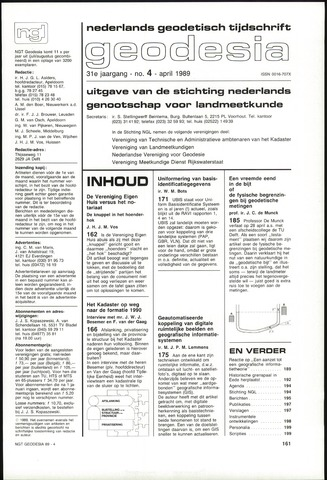 (NGT) Geodesia 1989-04-01
