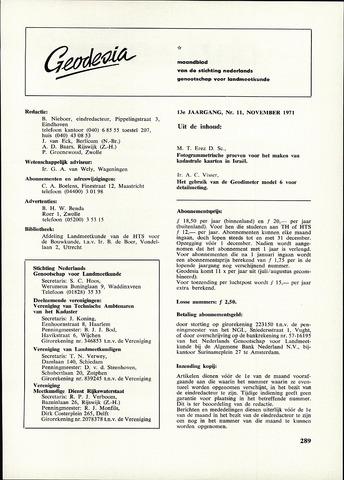 (NGT) Geodesia 1971-11-01