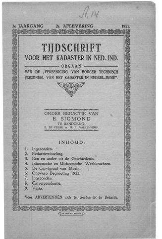 Tijdschrift voor het Kadaster in Ned.-Indië 1921-04-01