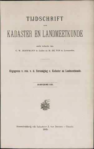 Tijdschrift voor Kadaster en Landmeetkunde (KenL) 1905
