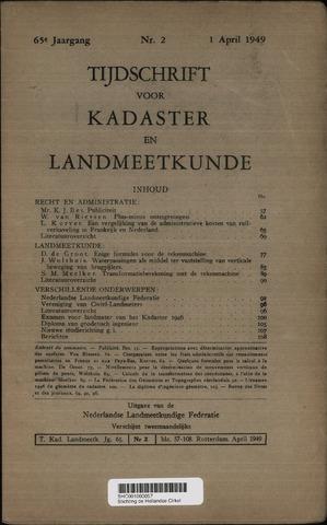 Tijdschrift voor Kadaster en Landmeetkunde (KenL) 1949-04-01