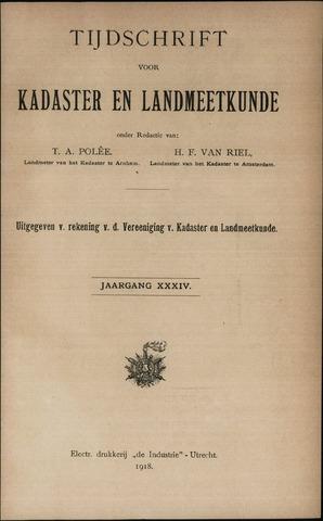 Tijdschrift voor Kadaster en Landmeetkunde (KenL) 1918-01-01