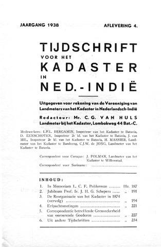 Tijdschrift voor het Kadaster in Ned.-Indië 1938-10-01