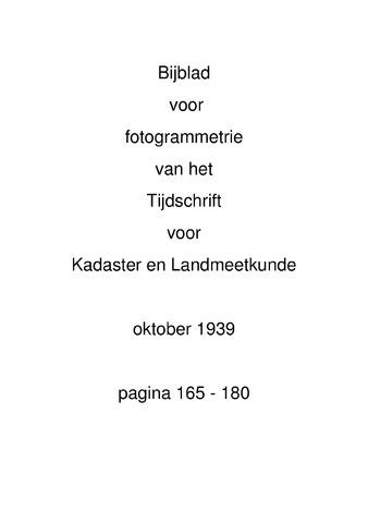 Tijdschrift voor Kadaster en Landmeetkunde (KenL) 1939-10-01