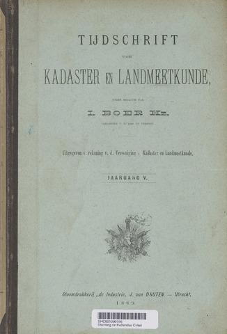 Tijdschrift voor Kadaster en Landmeetkunde (KenL) 1889