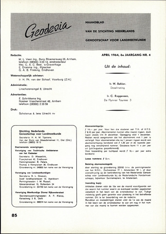 (NGT) Geodesia 1964-04-01