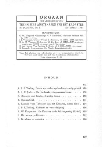 Orgaan der Vereeniging TAK 1958-09-01