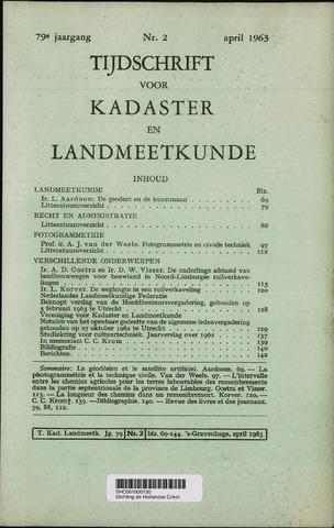 Tijdschrift voor Kadaster en Landmeetkunde (KenL) 1963