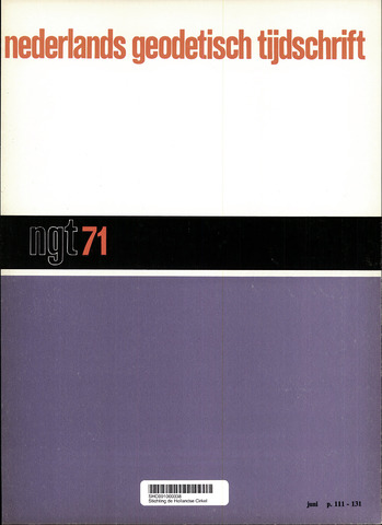 Nederlands Geodetisch Tijdschrift (NGT) 1971-06-01