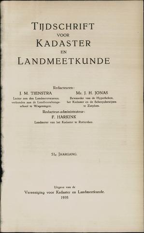 Tijdschrift voor Kadaster en Landmeetkunde (KenL) 1935