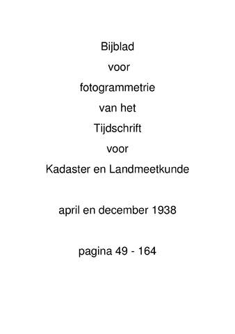 Tijdschrift voor Kadaster en Landmeetkunde (KenL) 1938-04-01