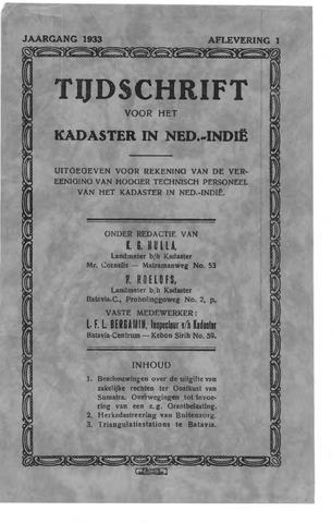 Tijdschrift voor het Kadaster in Ned.-Indië 1933-01-01