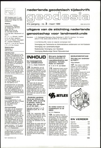 (NGT) Geodesia 1989-03-01