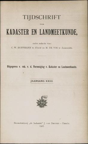 Tijdschrift voor Kadaster en Landmeetkunde (KenL) 1907