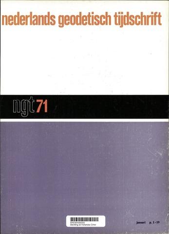 Nederlands Geodetisch Tijdschrift (NGT) 1971