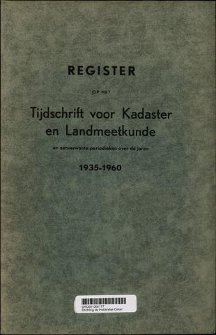 Tijdschrift voor Kadaster en Landmeetkunde (KenL) 1961-01-01