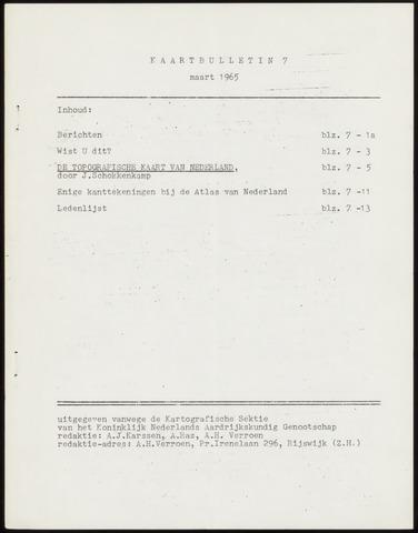 Kaartbulletin 1965