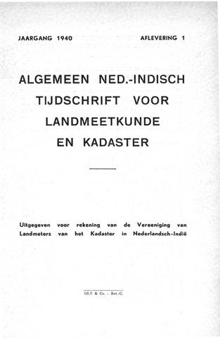 Tijdschrift voor het Kadaster in Ned.-Indië 1940-01-01
