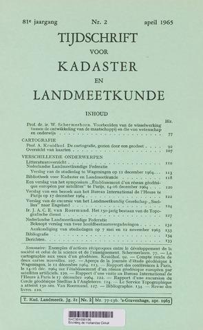 Tijdschrift voor Kadaster en Landmeetkunde (KenL) 1965-04-01