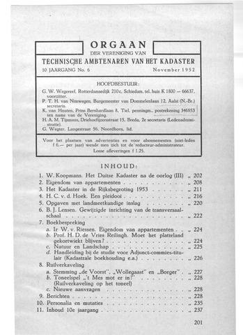 Orgaan der Vereeniging TAK 1952-11-01