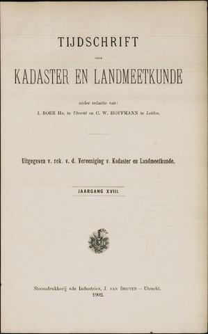 Tijdschrift voor Kadaster en Landmeetkunde (KenL) 1902